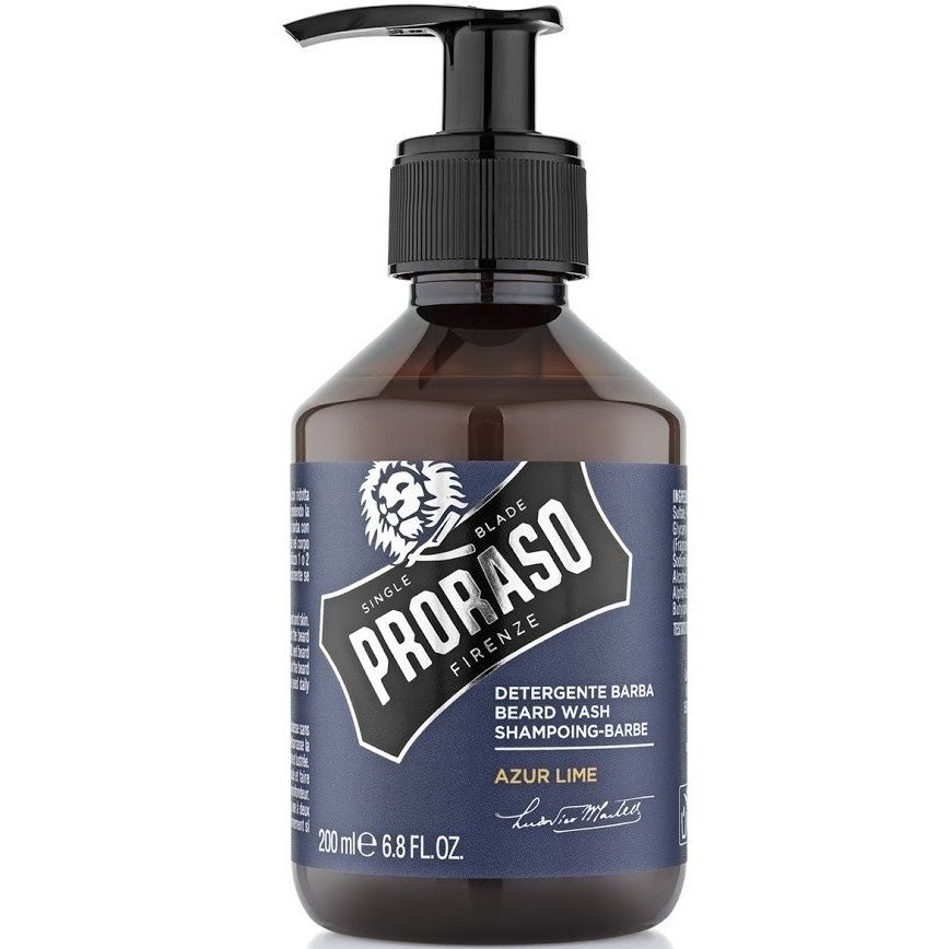 Proraso Azure Lime Beard Wash - Шампунь для бороды 200 мл