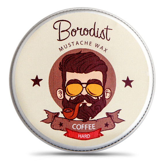 Borodist Coffee Wax - Воск для усов Кофе 13 гр
