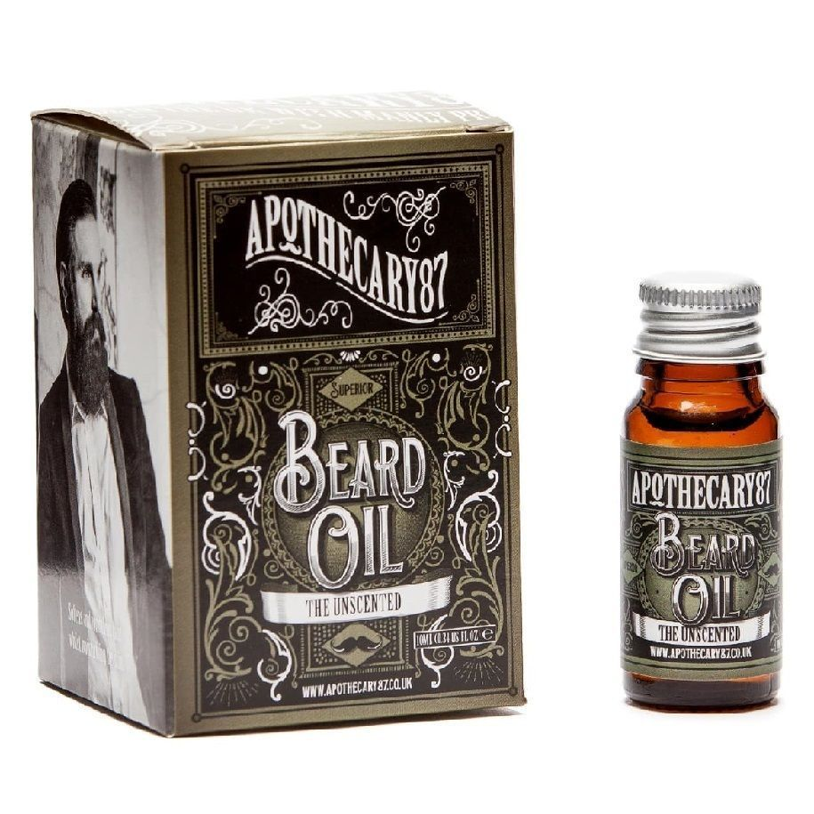 Apothecary87 The Unscented Beard Oil - Масло для бороды Без запаха 10 мл