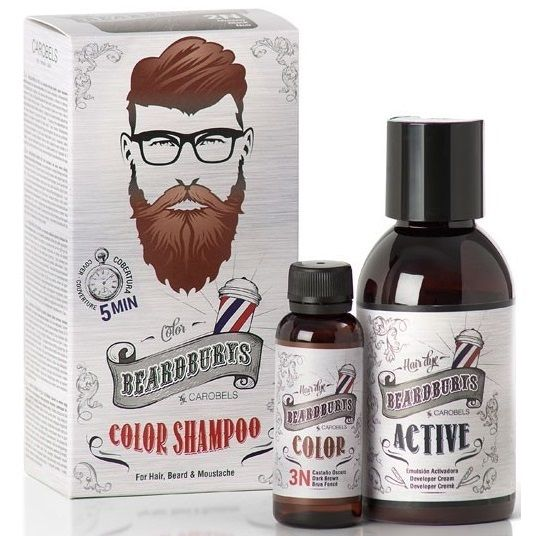 BeardBurys Dark Brown Color Shampoo 3N - Красящий шампунь Темно-коричневый